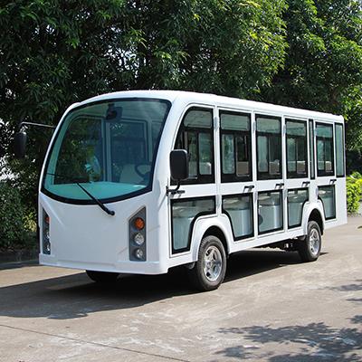 新款带门封闭式电动观光车LQY143