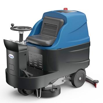 埃尔顿驾驶式洗地机(双刷)中型120L